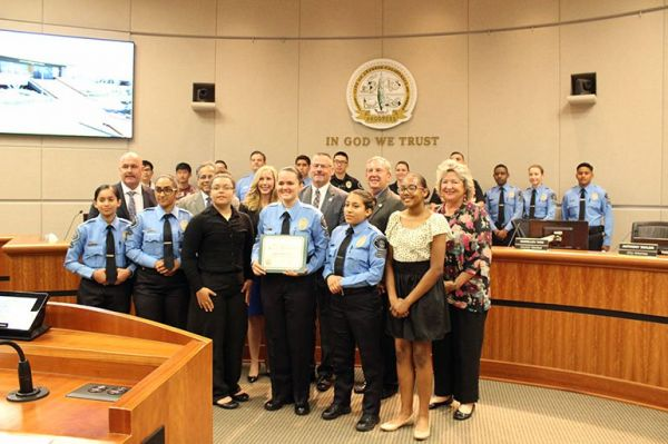 Cypress PD, City Council recognize Police Explorer Jessica Costescu on acceptance to prestigious FBI youth leadership academy